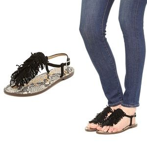 Sam Edelman | Women's GELA Fringe Sandals 7.5M